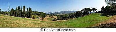 campo golfe, panorama