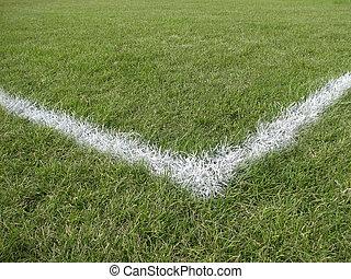 campo, línea, juego, límite, esquina