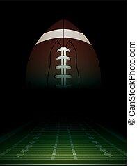 campo, norteamericano, pelota, ilustración, fútbol