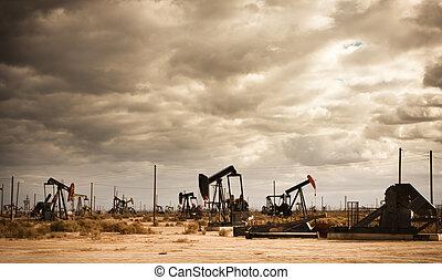 campo, olio, deserto