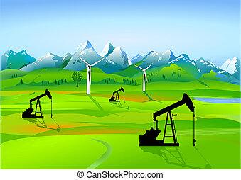 campo, olio