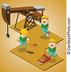 campo, olio, lavorativo