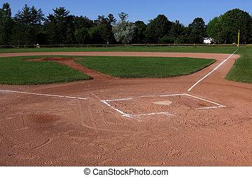 campo, pelota, abierto