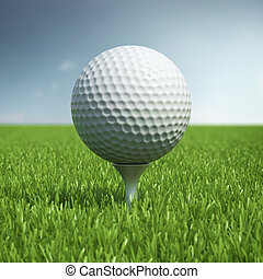 campo, pelota, césped del golf, pasto o césped