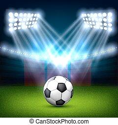 campo, pelota del fútbol, fútbol