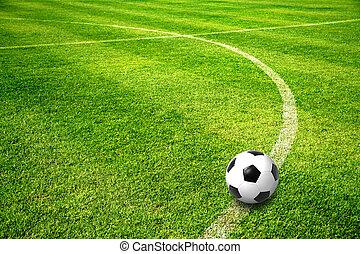 campo, pelota, fútbol