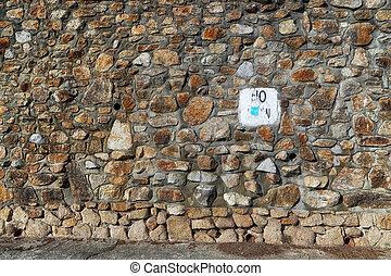 campo, pietra, fondo, o, fondale