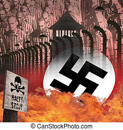 campo, polonia, auschwitz, -, holocausto, concentración, ...