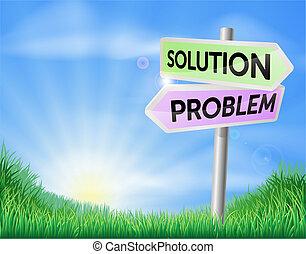 campo, problema, solución, señal