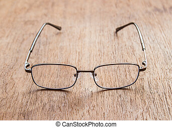 campo, profundidad, superficial, lectura, glasses.