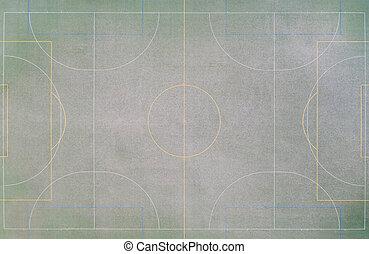 campo, sobre, futbol