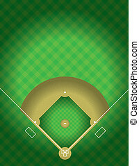 campo, vector, beisball