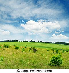 campo, y, cielo
