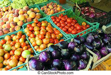 camponês, mediterrâneo, mercado