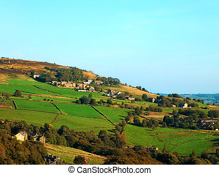 campos, oeste, wadsworth, calder, aldea, valle, ladera,...