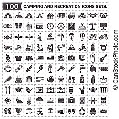 campping_icon - Camping and recreation icons sets.