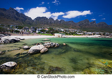 Camps Bay beach, Cape Town. South Africa