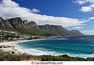 Camps Bay Beach, Western Cape, South Africa - Beautiful...