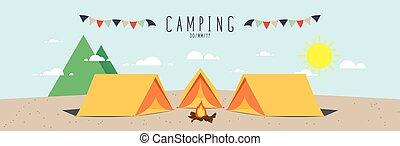 campsite., (day)