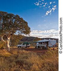 campsite, em, outback