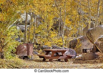 Campsite in fall