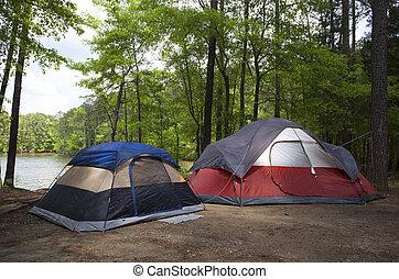 Campsite just before dusk