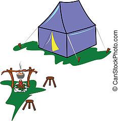 campsite, prado