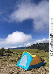 campsite - The tent on even campsite in high altitude...