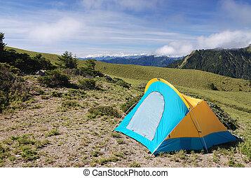campsite - The tent in even campsite in high altitude...