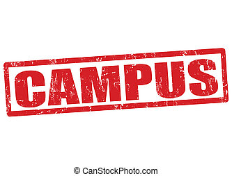 Campus stamp - Campus grunge rubber stamp on white, vector...
