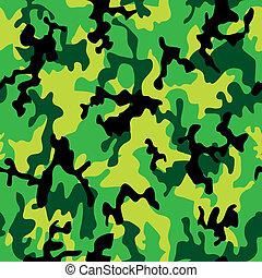camuflagem, profundo, selva