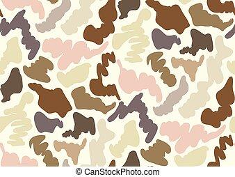 camuflaje, seamless, patrón, en, un, sombras, de, beige, gris, bronceado, marrón, beige, colors.