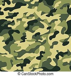 camuflaje, seamless, verde