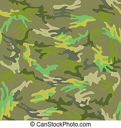 camuflaje, seamless, verde, trópico