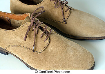 camurça, sapatos, couro