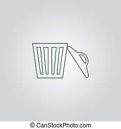 can., 垃圾, 矢量, 插圖
