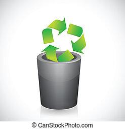 can., 符號, 插圖, 再循環, 垃圾, 裡面