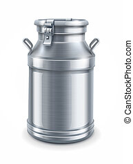can container for milk isolated vector