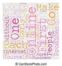 Can I Be A Success Online Part 2 text background wordcloud concept