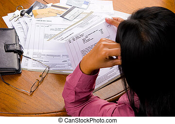 Can I free from these debts? - A woman looked so stress...