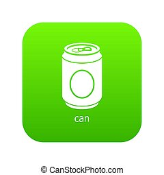 Can icon green