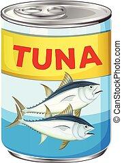 Can of fresh tuna
