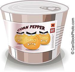 Can Of Gmo Corn Grains