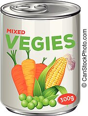 Can of mixed vegies