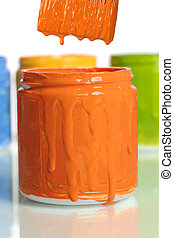 Can of Orange Paint