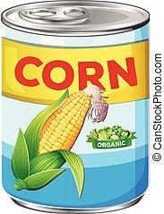 Can of organic corn