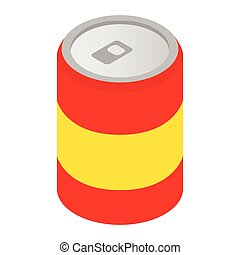 Can of soda isometric 3d icon