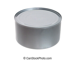 Can of Tuna - Unopened tuna can isolated on white.