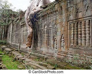can, preah, angkor, tempio