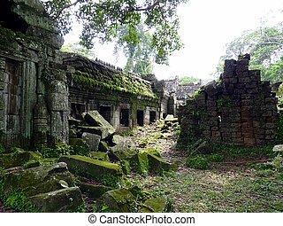 can, rovine, preah, tempio